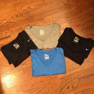 Nike v-neck dri-fit shirt lot